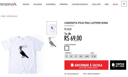 Reserva - camisa promocional