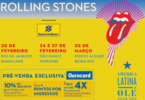 Rolling Stones - Pré-Venda BB