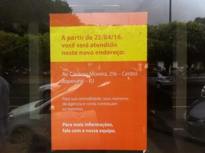 Itau fecha agência em Itaperuna