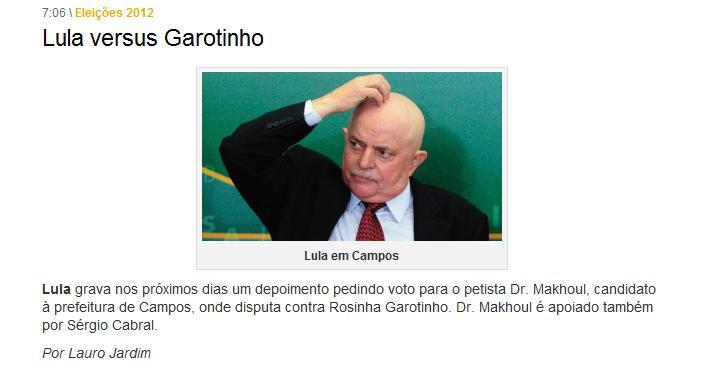 Lula x Garotinho