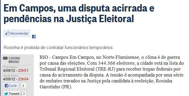 Reprodução — O Globo online