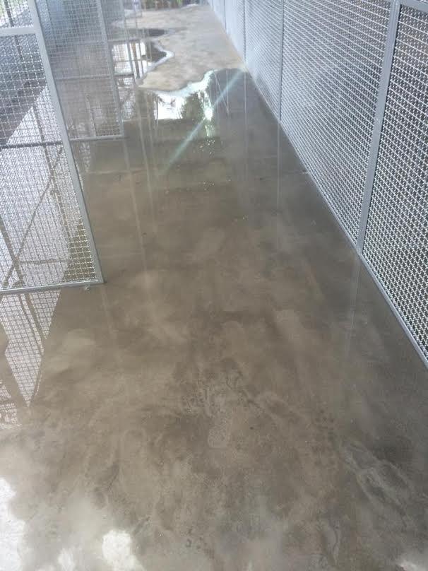 Já é possível ver a água entrar no local provisório