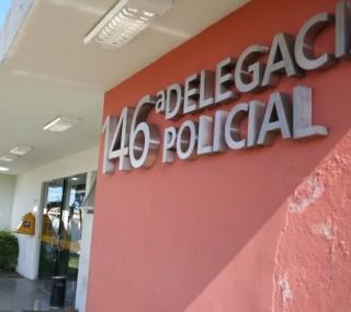 Após a fuga dos bandidos, vítimas registraram caso na 146ª Delegacia de Polícia