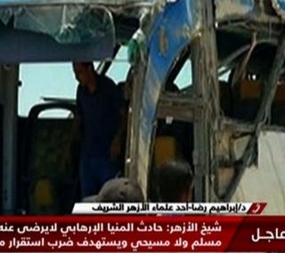 Ônibus com cristãos ia para um mosteiro no sul do Cairo