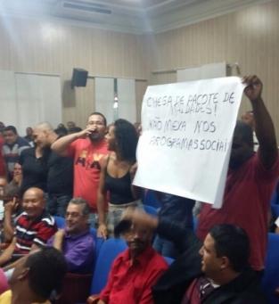 Tumulto na Câmara Municipal