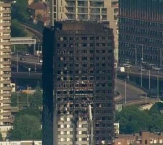 Incêndio destruiu prédio em Londres