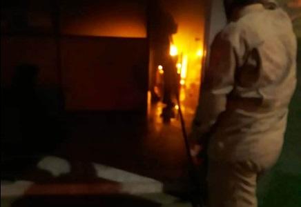 Incêndio em escola em SJB (Foto: Parahybano)