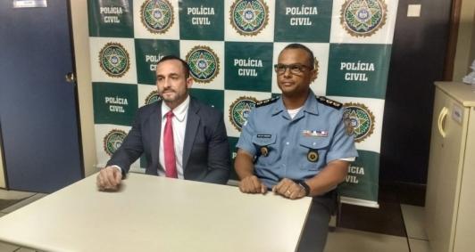 Delegado Armond e comandante Fabiano Souza