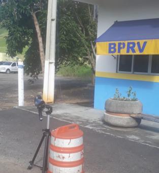 O BPRv já atua com radar móvel no Posto 18, na localidade de Ponto de Pergunta