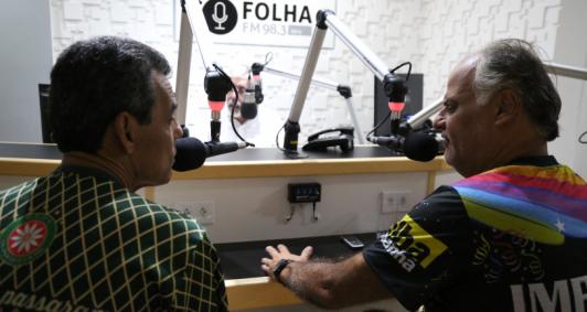 Toninho Shita e Marcelo Sampaio participaram do Folha no Ar