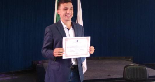 Diplomação de Bruno Vianna (Foto: Aldir Sales)