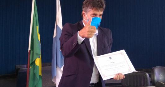 Diplomação de Silvinho Martins (Foto: Aldir Sales)