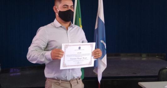 Diplomação de Dandinho de Rio Preto (Foto: Aldir Sales)